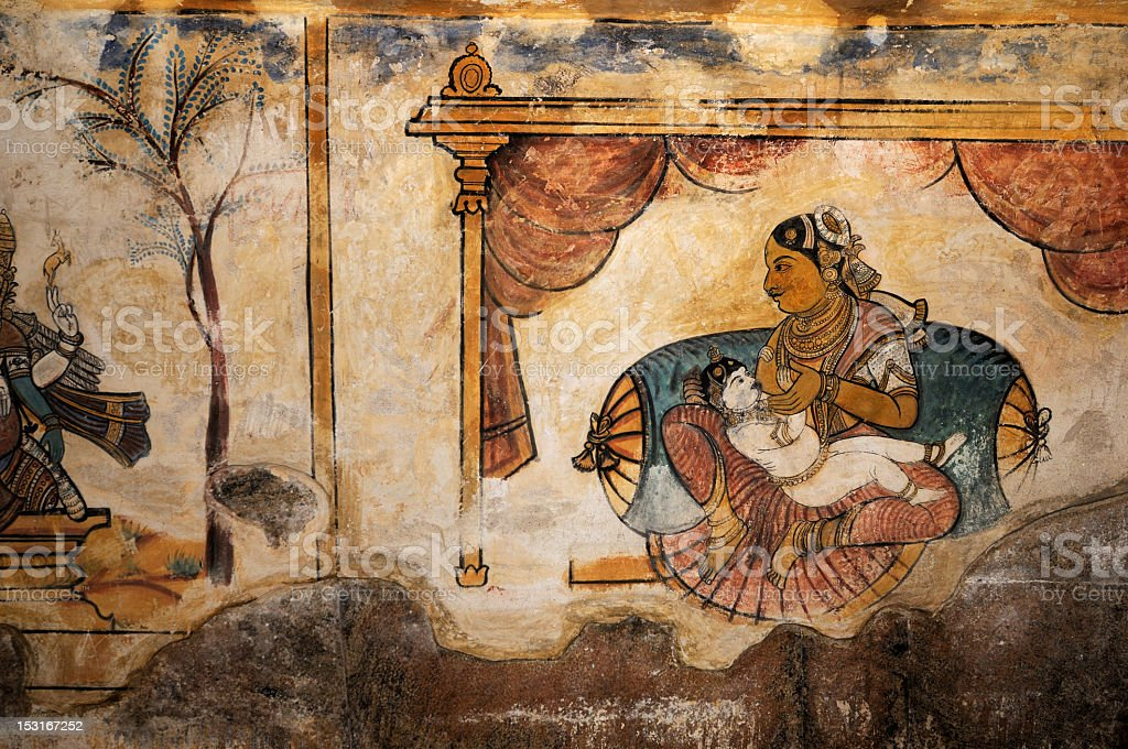 Fresco paintings royalty-free stock photo