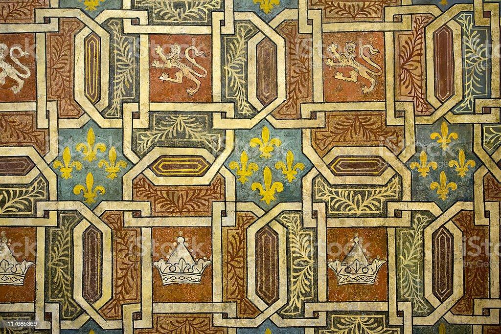 Frescoes in Palazzo Davanzati stock photo