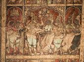 Frescos from ceiling of the Virupaksha Temple in Hampi, India