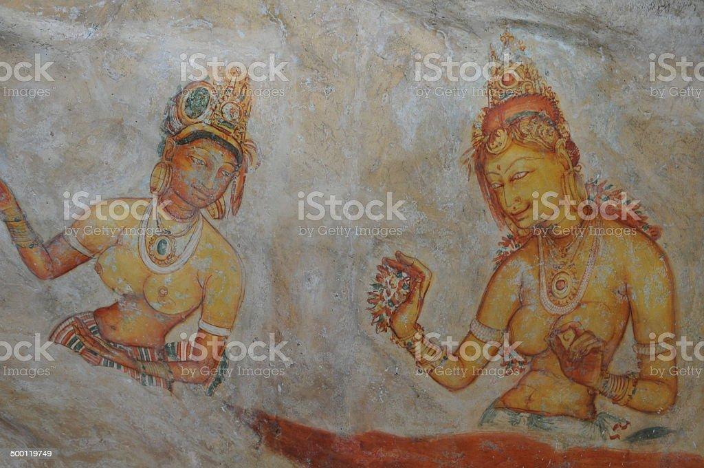 Frescos Sigirya stock photo