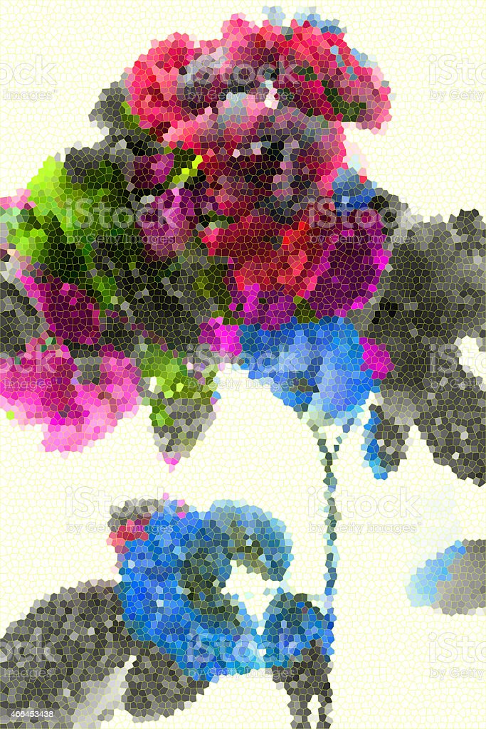 Fresh abstract rose. Summer flowers stock photo