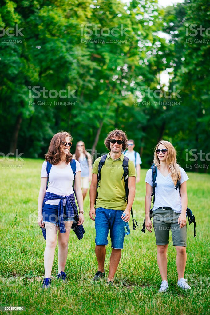 Fresh air and healthy lifestyle in nature stock photo
