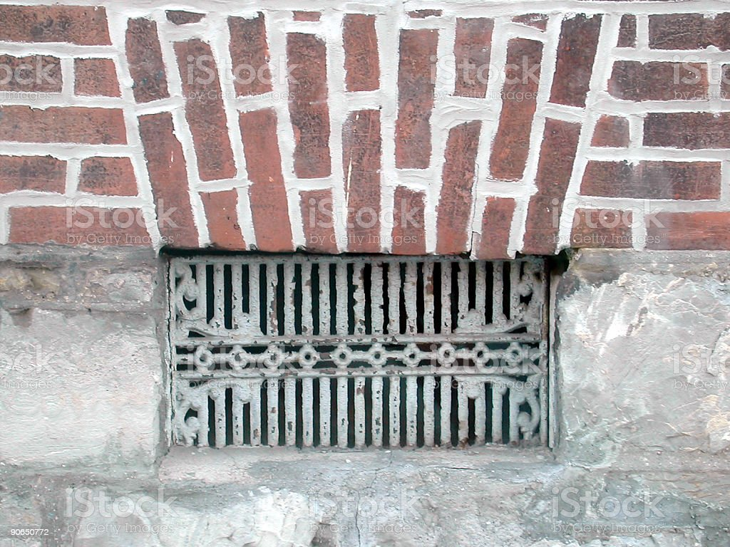 fresh air vent on a house royalty-free stock photo
