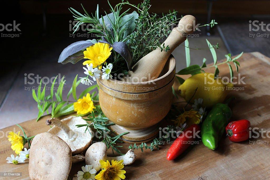 Fresh Alternative Remedy stock photo