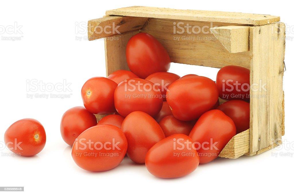 fresh and colorful italian roma tomatoes stock photo