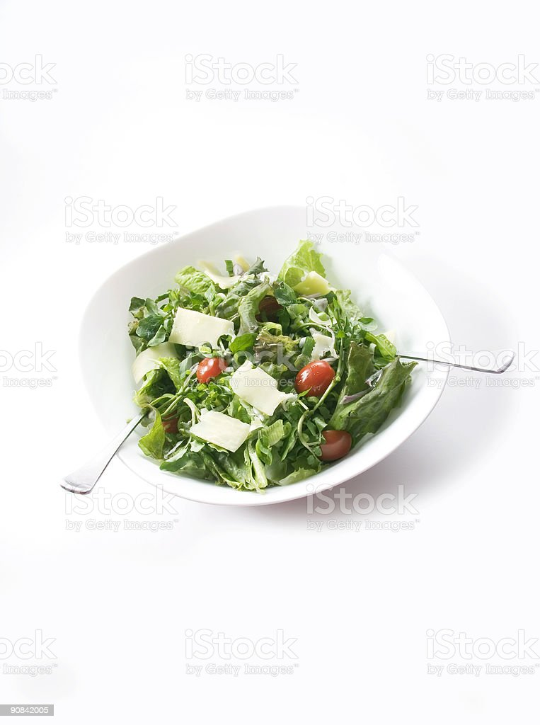Fresh and Delicious Salad royalty-free stock photo