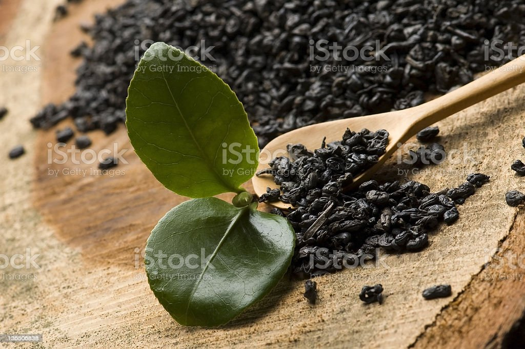 fresh and dried tea royalty-free stock photo
