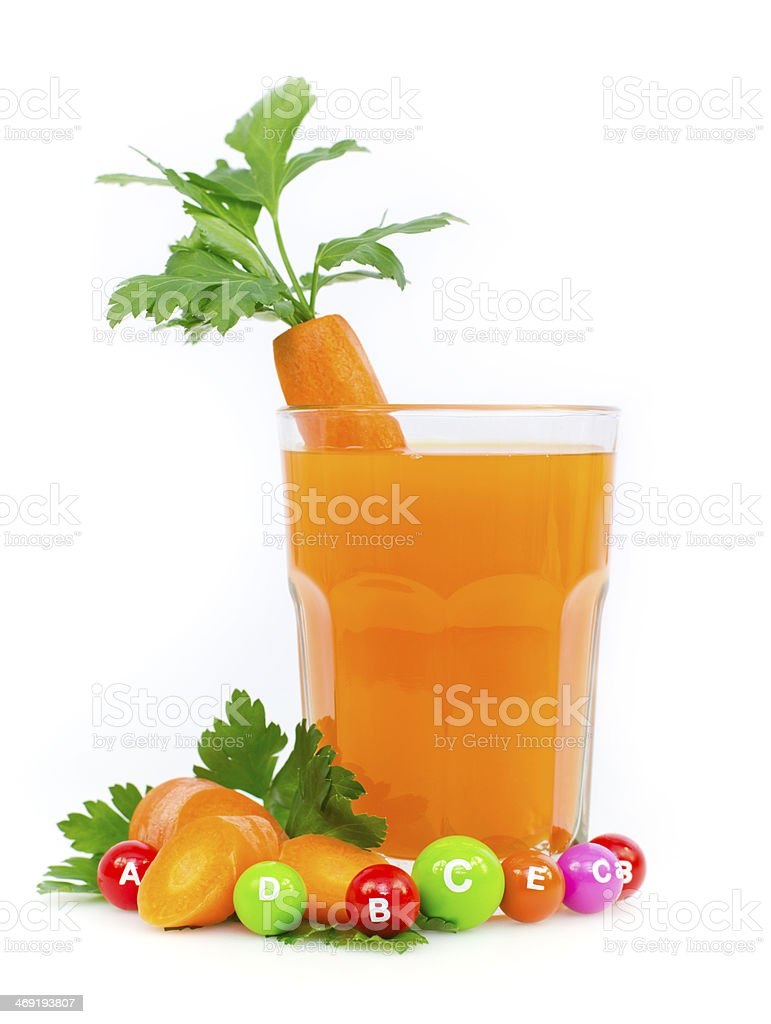Fresh and healthy carrot juice royalty-free stock photo