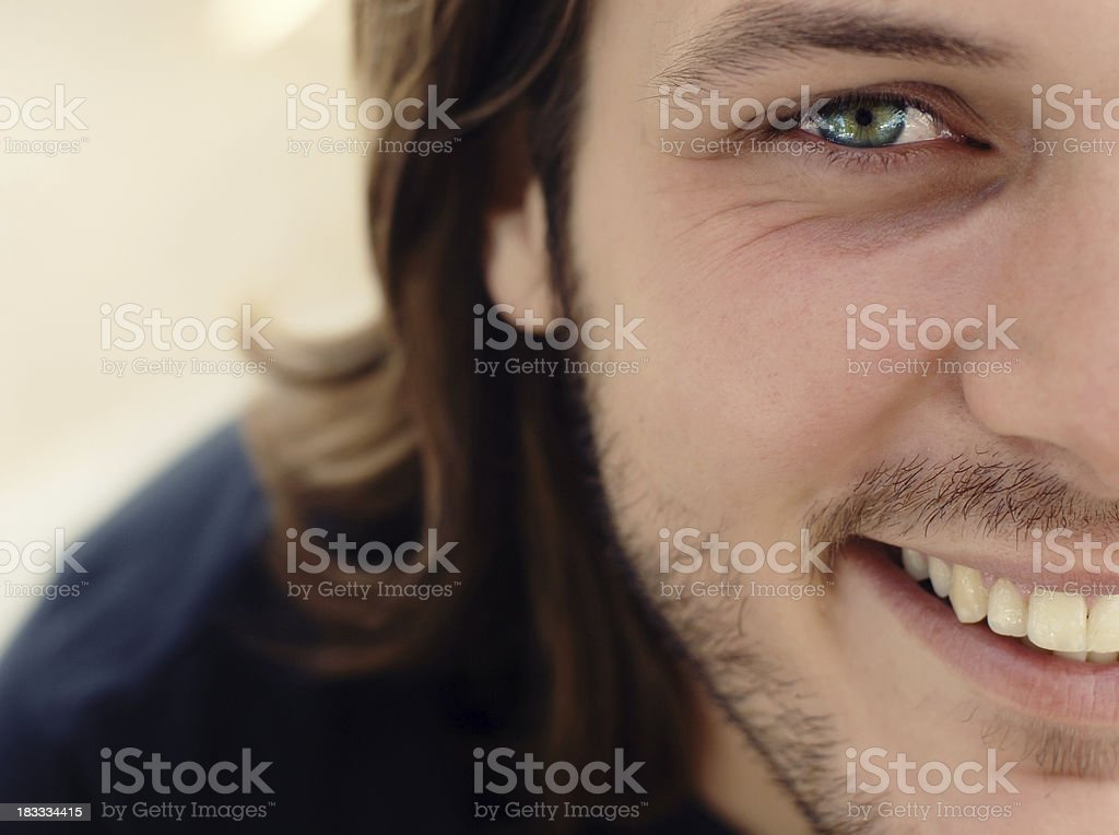 Fresh and healthy face of attractive male stock photo