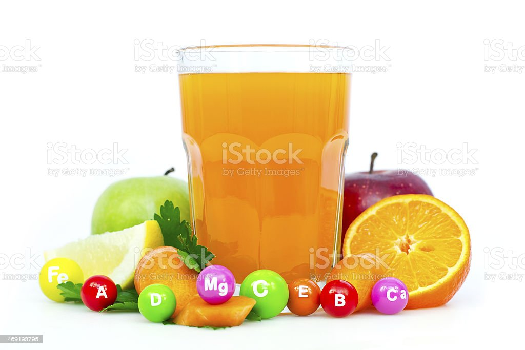Fresh and healthy multivitamin juice royalty-free stock photo