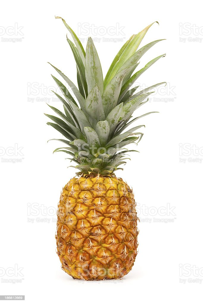 fresh and mellow pineapple stock photo