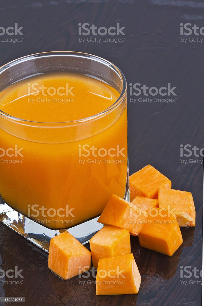 Fresh and pumpkin juice royalty-free stock photo