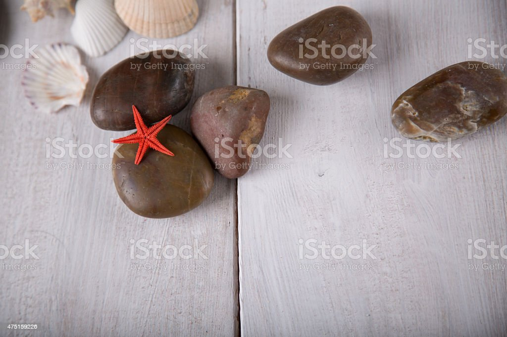 Fresh and pure seaside concept stock photo