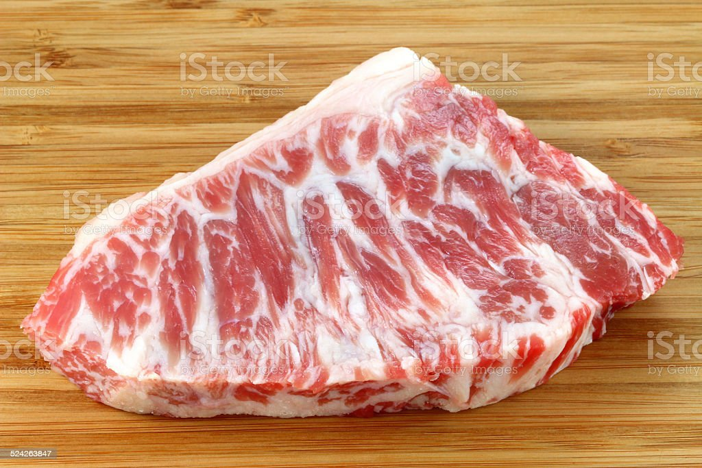 Fresh and raw Beef hump stock photo