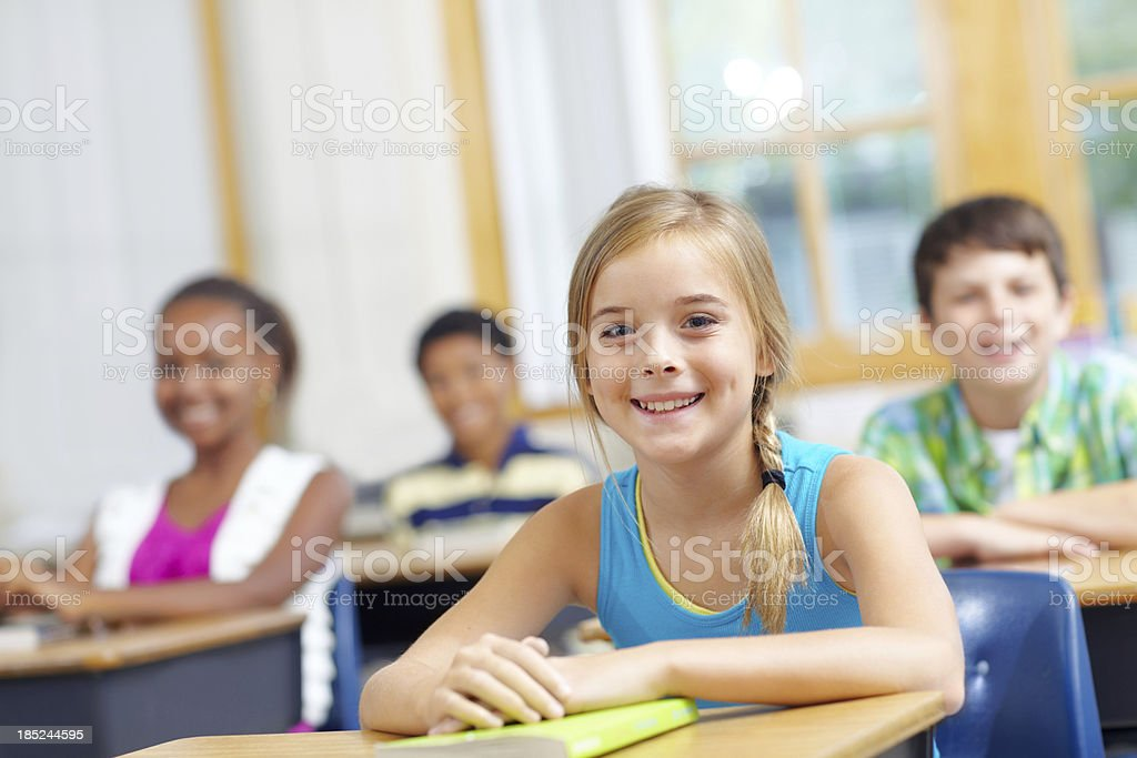 Fresh and ready to learn royalty-free stock photo