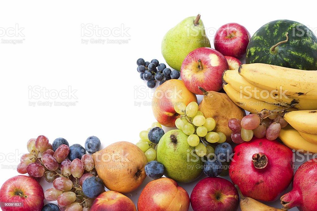 fresh and ripe fruits royalty-free stock photo