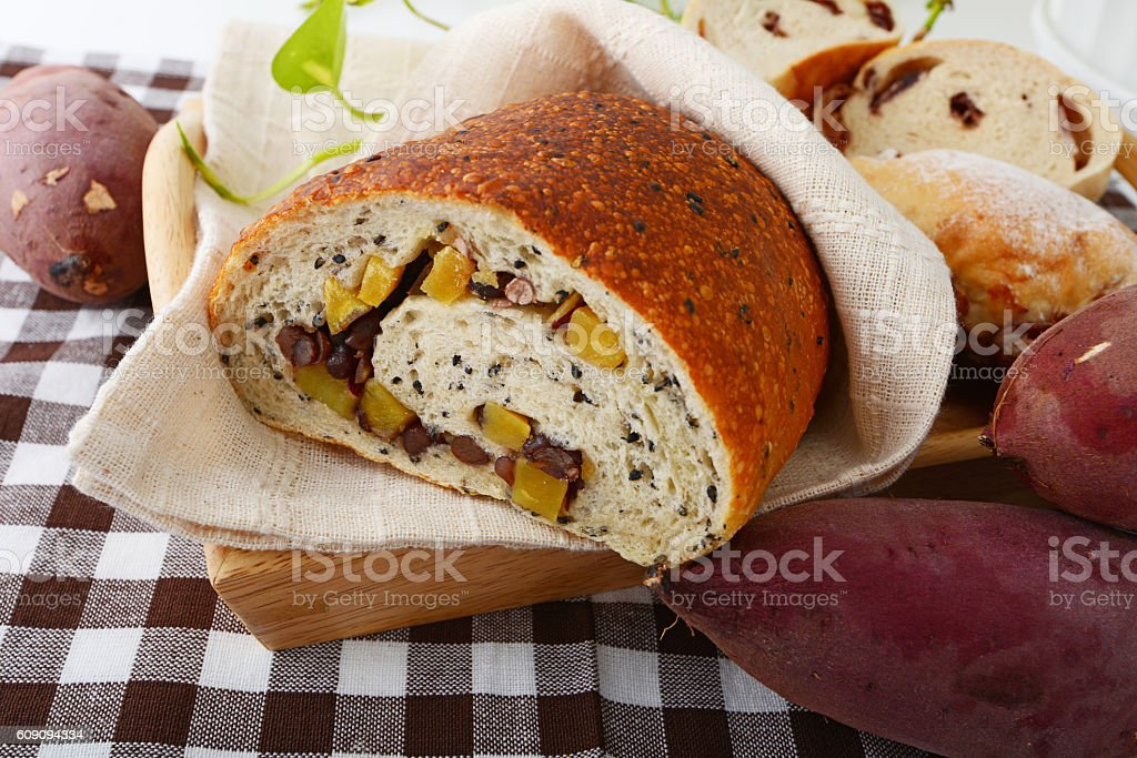 Fresh and tasty breads stock photo
