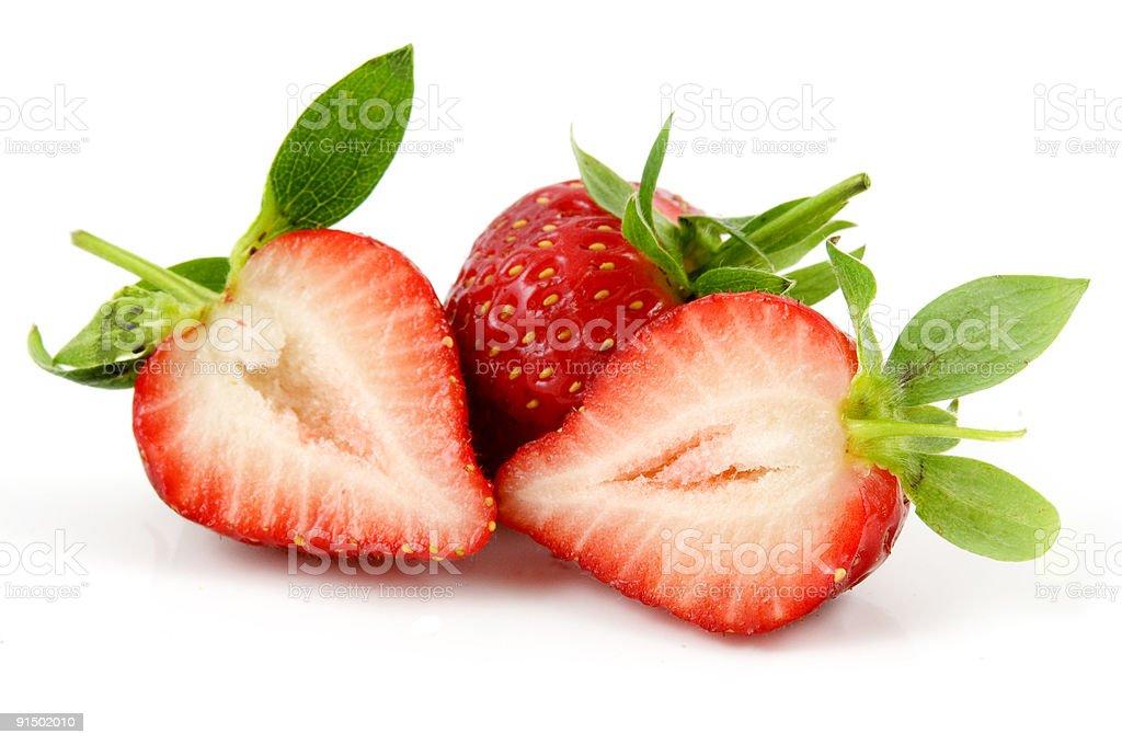 Frais et des fraises photo libre de droits