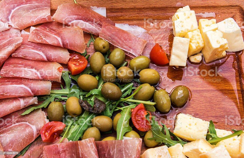 Fresh Antipasto Platter stock photo
