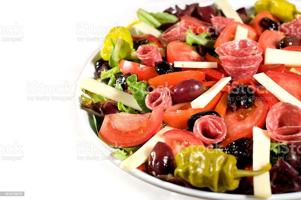 Fresh Antipasto Salad royalty-free stock photo
