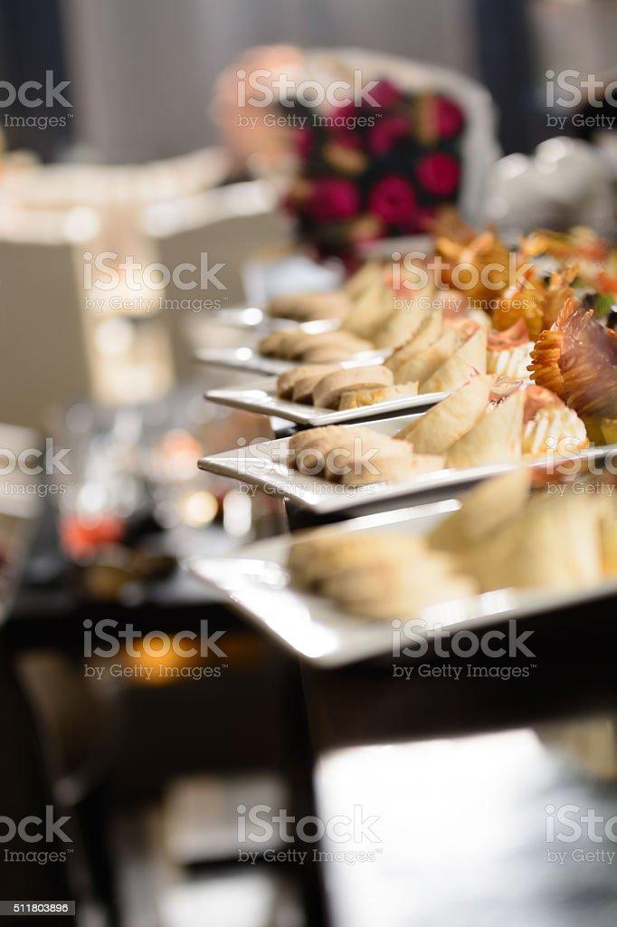 Fresh aperitifs on a table. stock photo