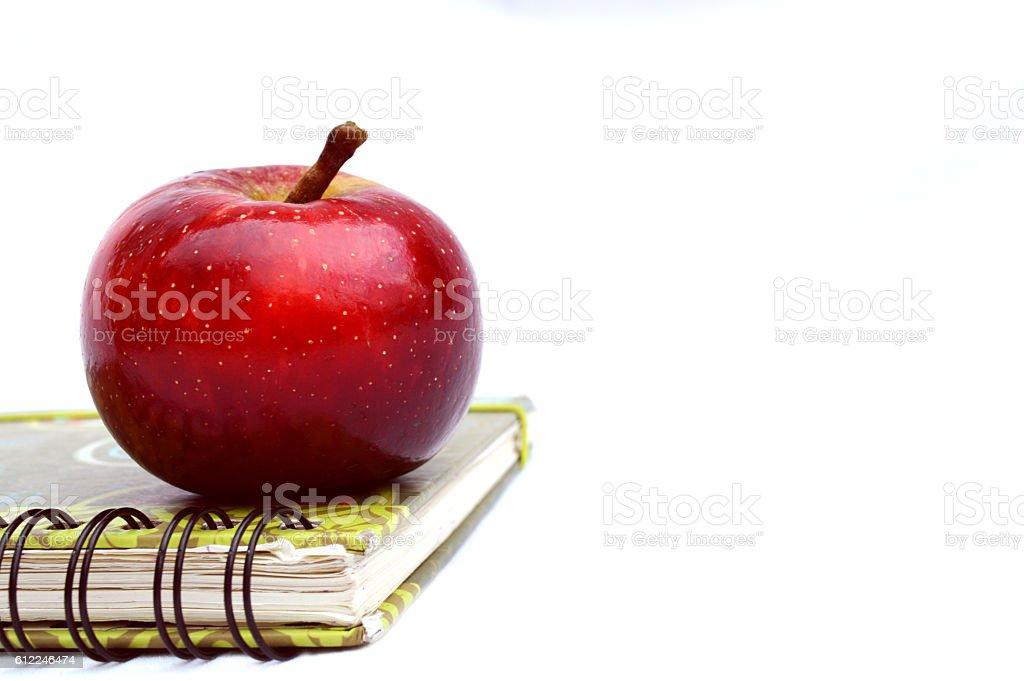 Fresh apple for snack school stock photo