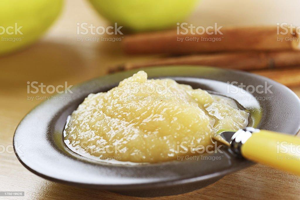 Fresh apple sauce stock photo