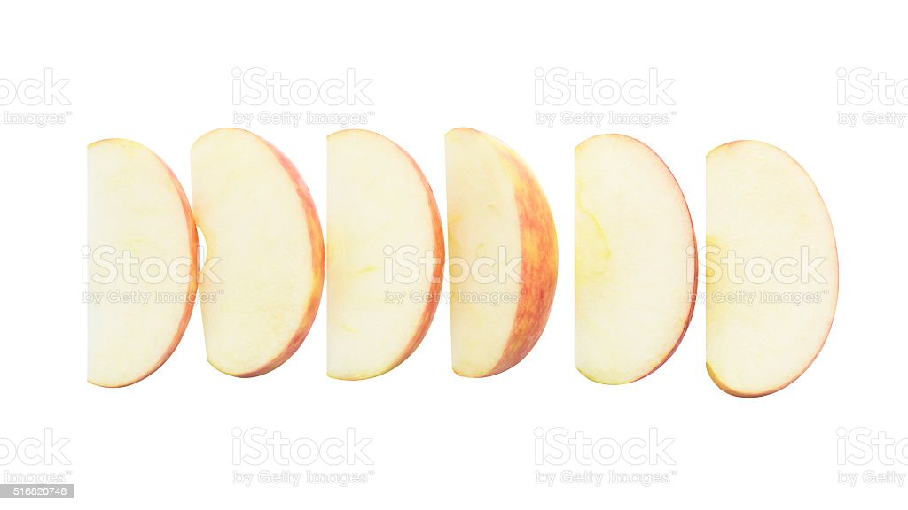 Fresh apple snack fruit slice stock photo