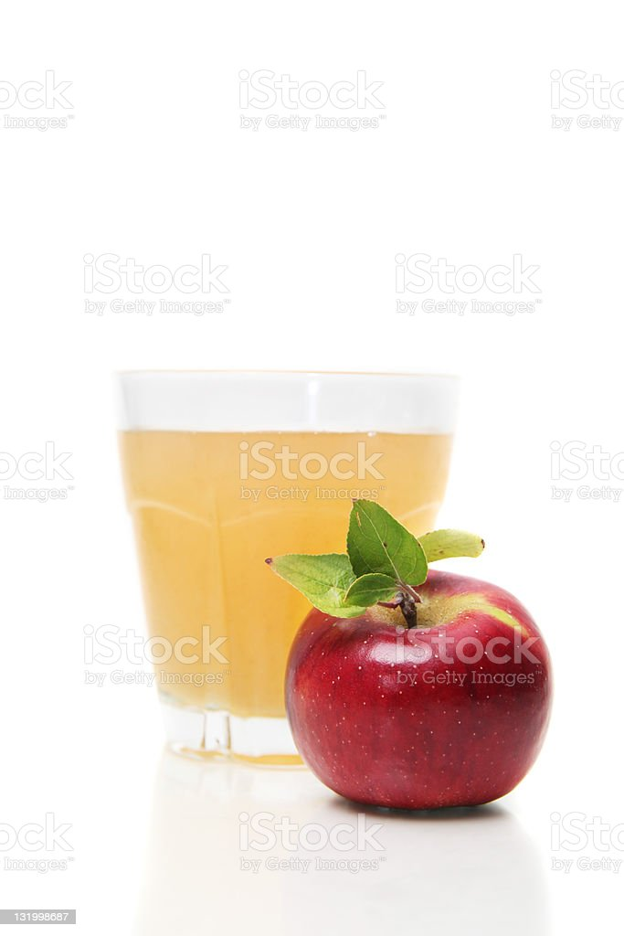 Fresh apple with juice royalty-free stock photo