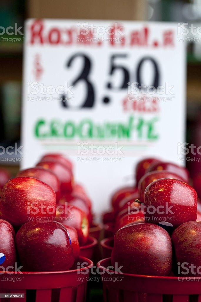 Fresh Apples in market stock photo
