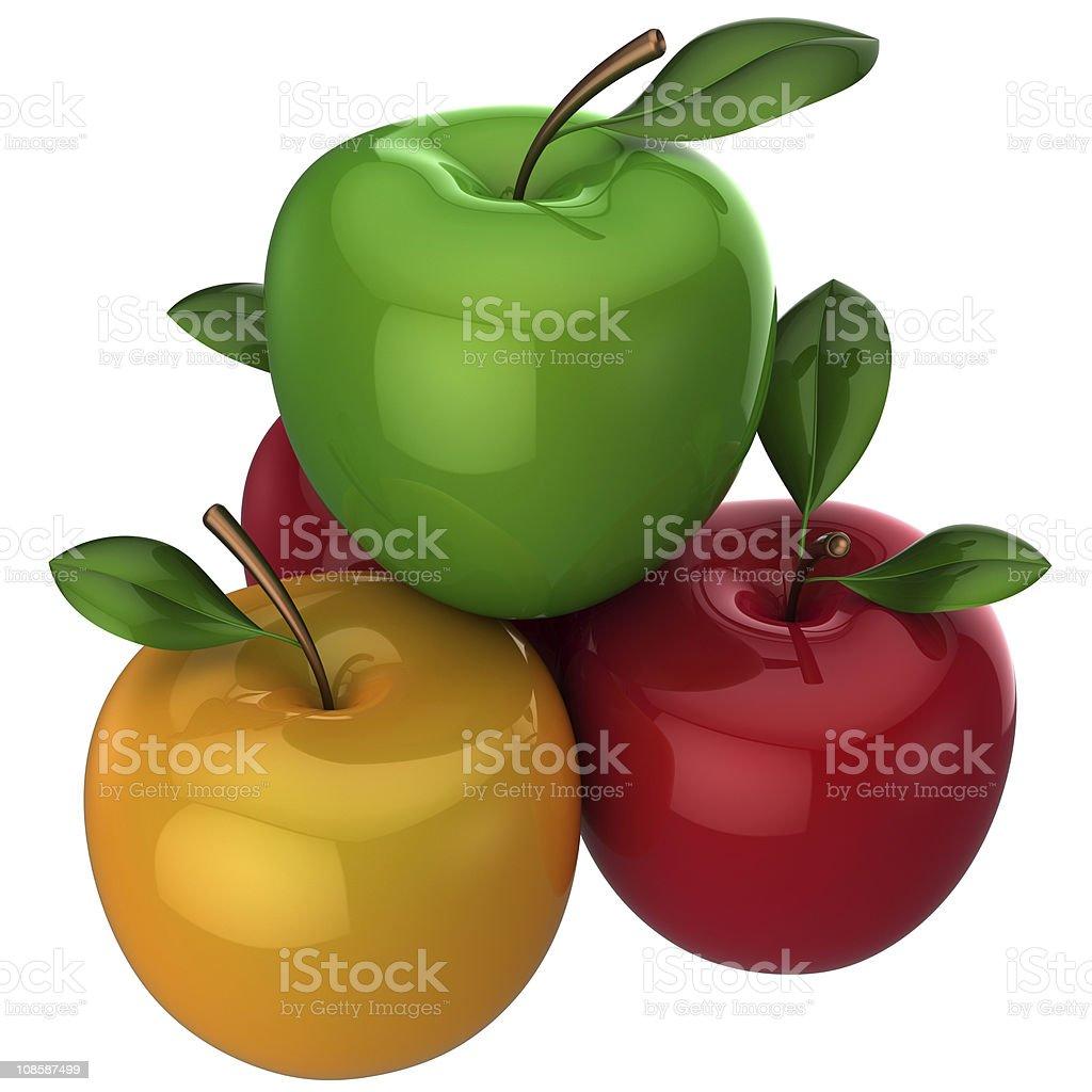 Fresh apples (Hi-Res) royalty-free stock photo