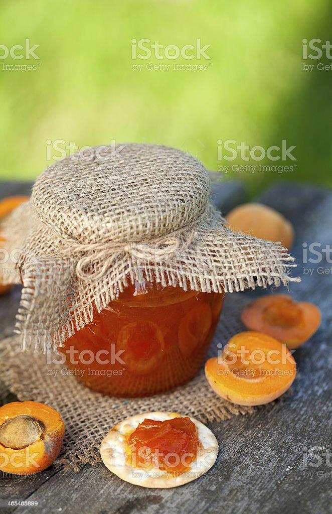 fresh apricot jam stock photo