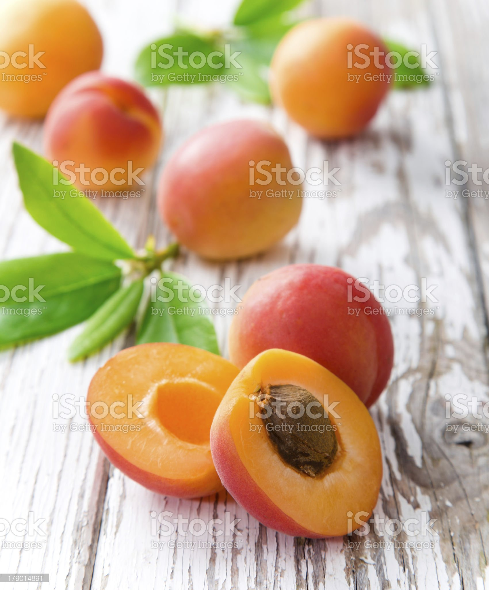 fresh apricots royalty-free stock photo