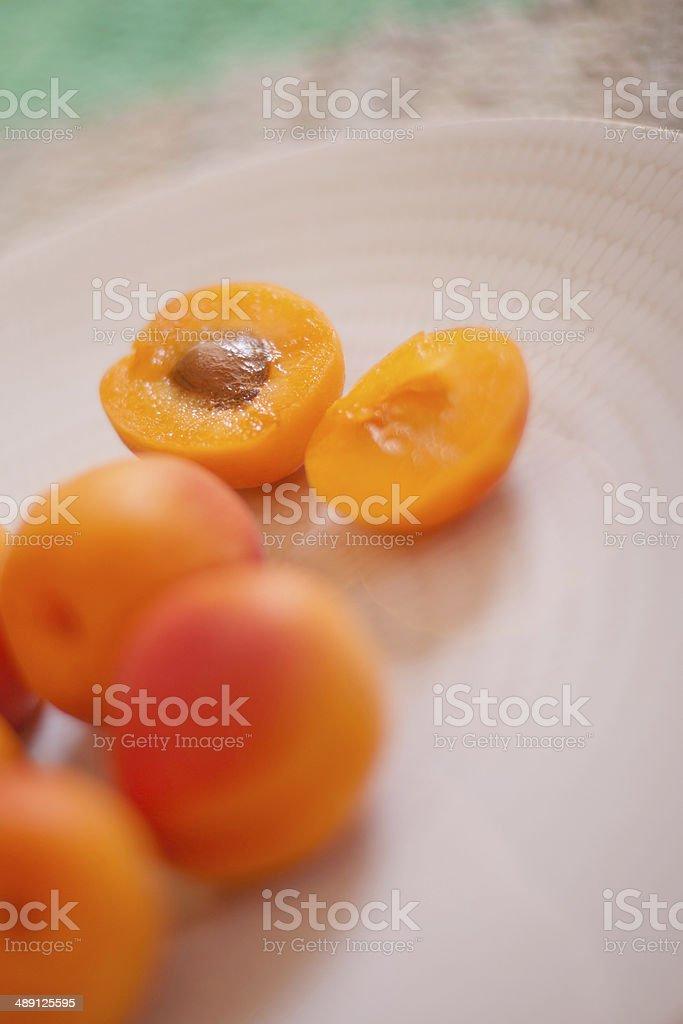 Fresh Apricots royalty-free stock photo