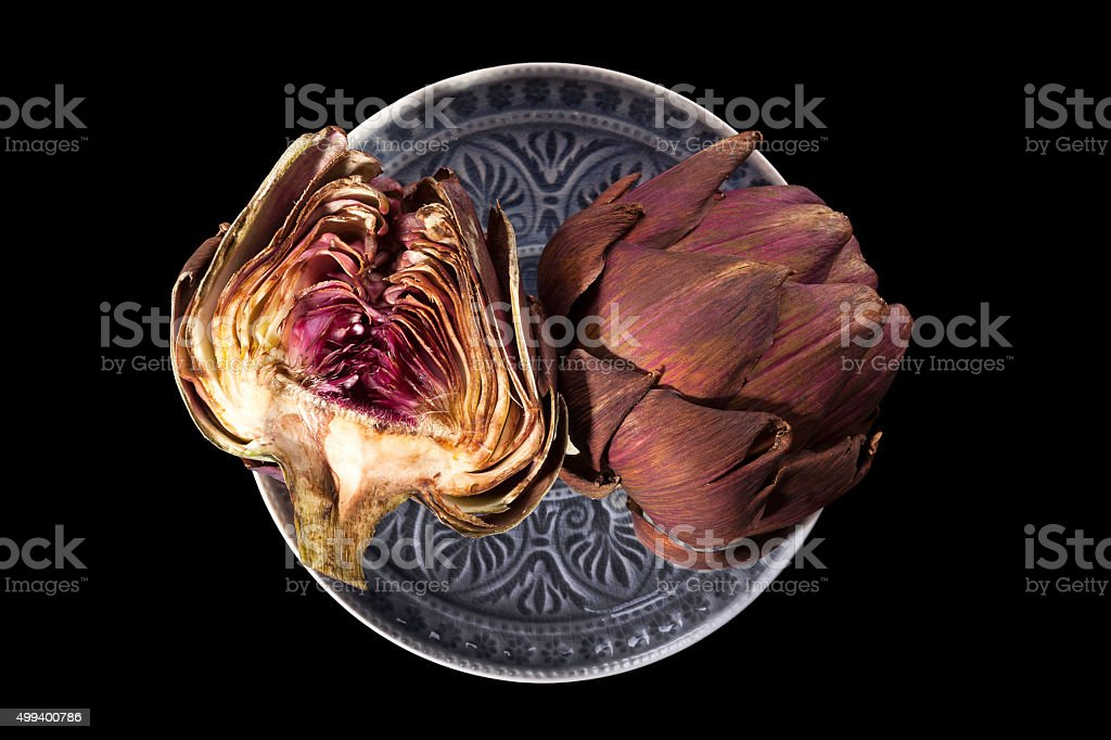 Fresh artichokes. stock photo