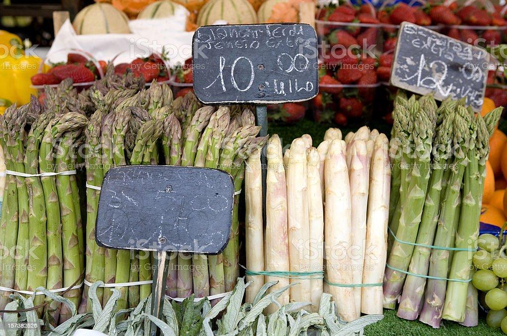 Fresh Asparagus at Market royalty-free stock photo