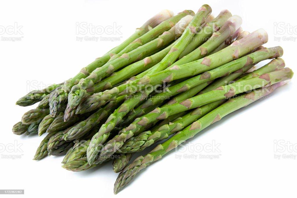 Fresh asparagus on a white background stock photo
