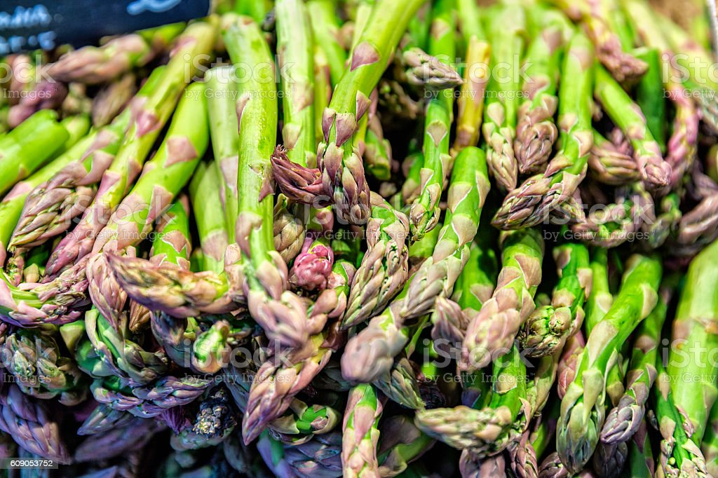Fresh asparagus ready for cooking stock photo