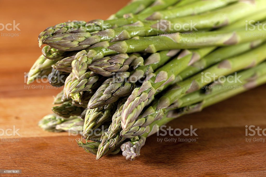 Fresh Asparagus Spears Close stock photo