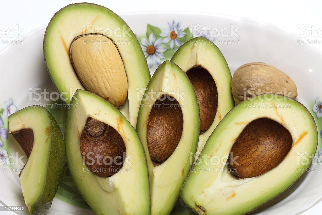 Fresh Avocado Halves royalty-free stock photo