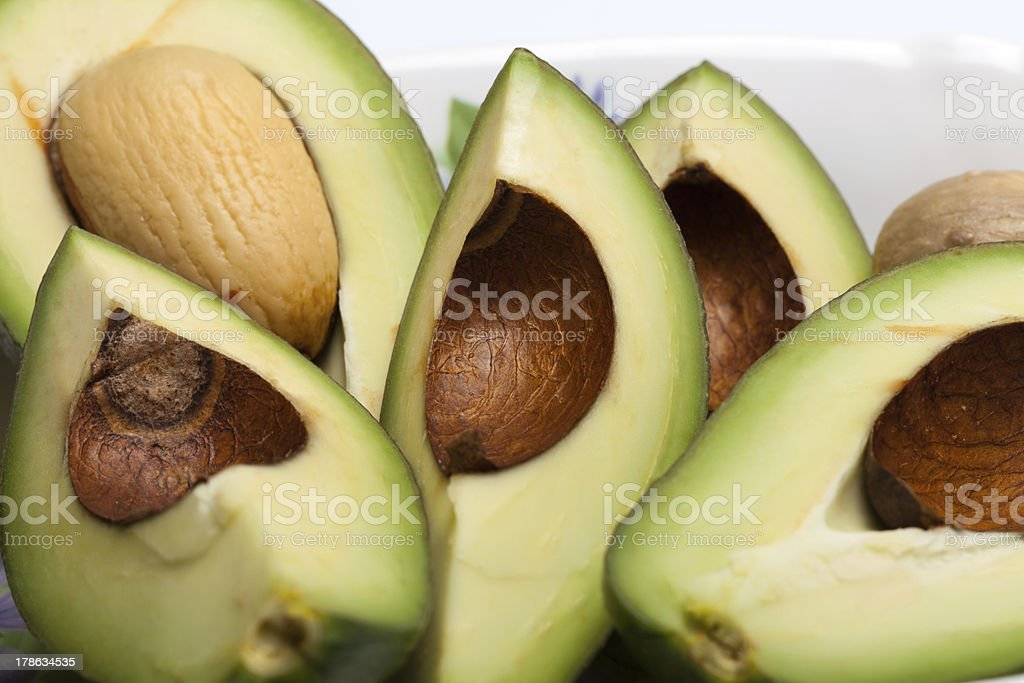 Fresh Avocado Halves royalty-free stock photo