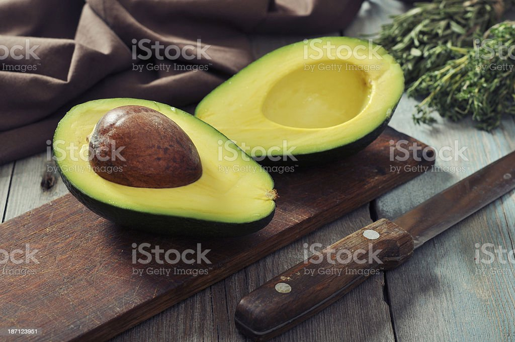 Fresh avocado stock photo
