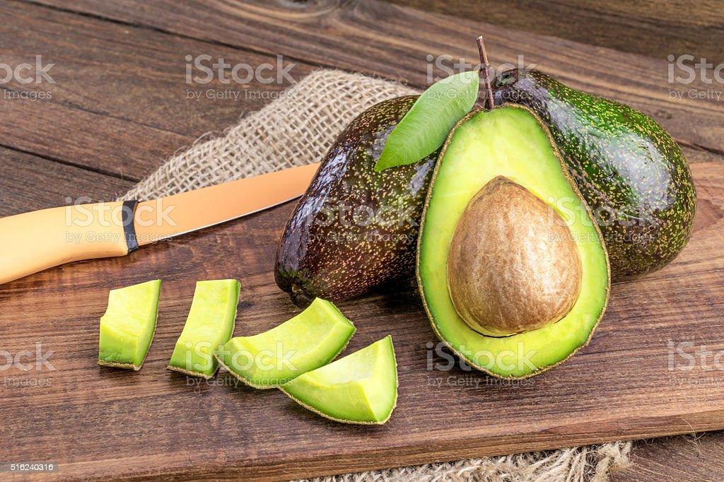 Fresh avocado stock photo