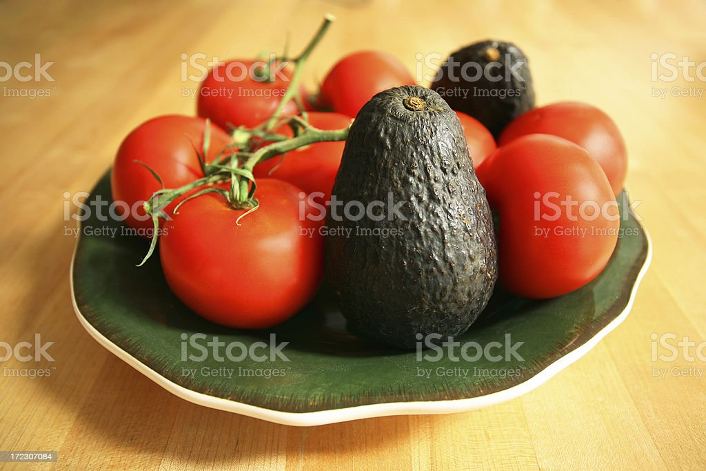 Fresh Avocados and Tomatoes royalty-free stock photo