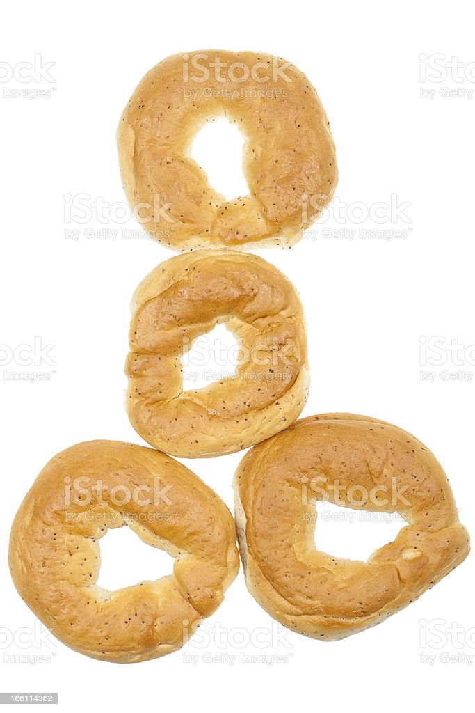 Fresh bagels royalty-free stock photo