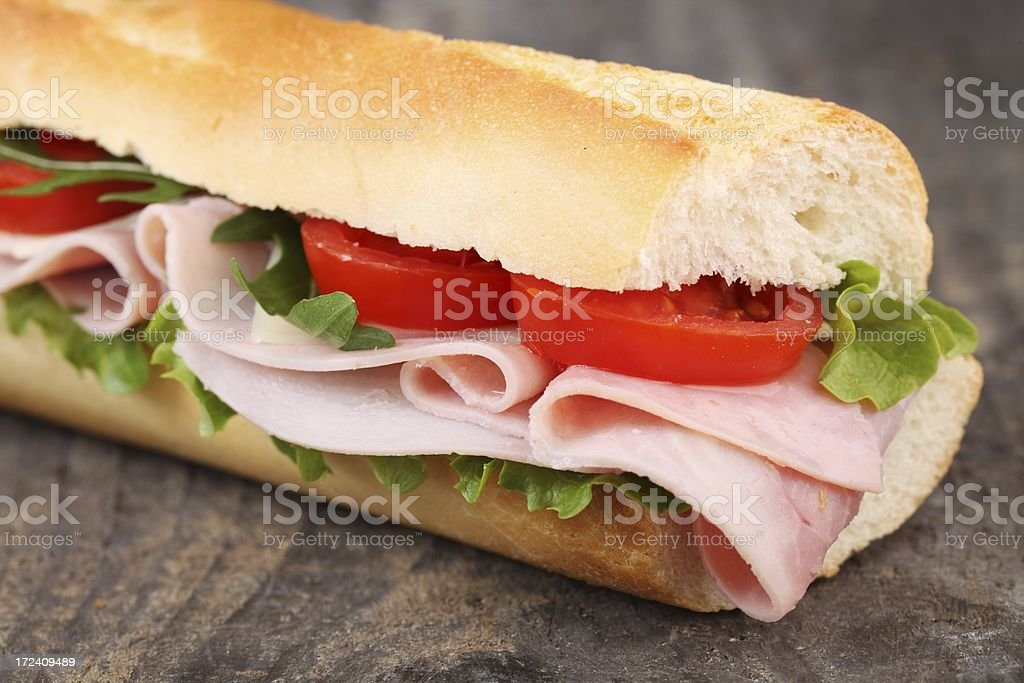 Fresh baguette royalty-free stock photo
