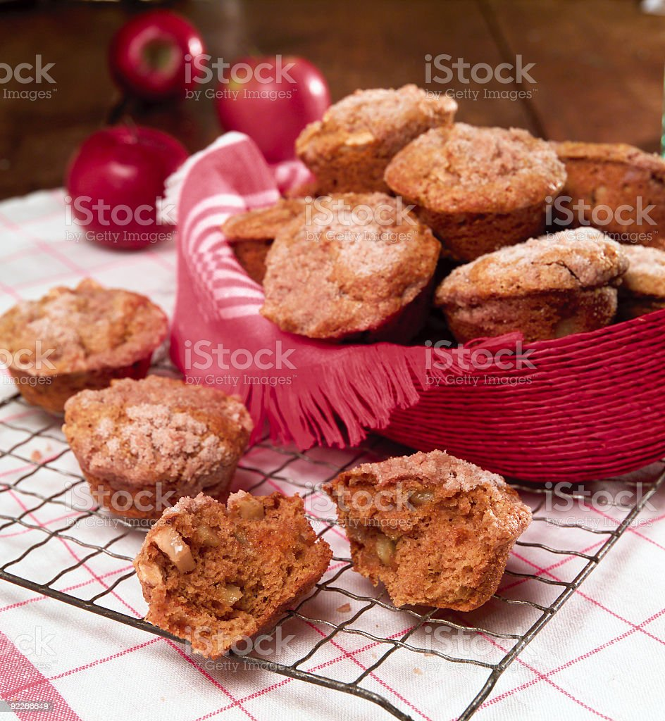 Fresh Baked Apple Muffins stock photo