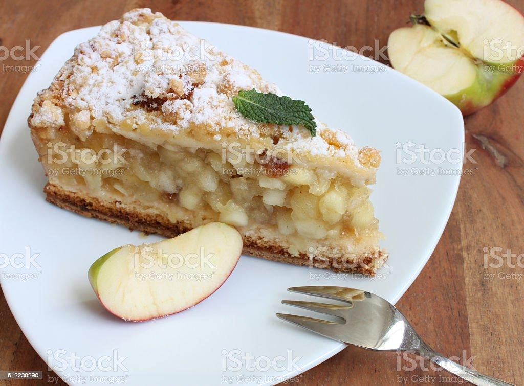fresh baked apple pie stock photo