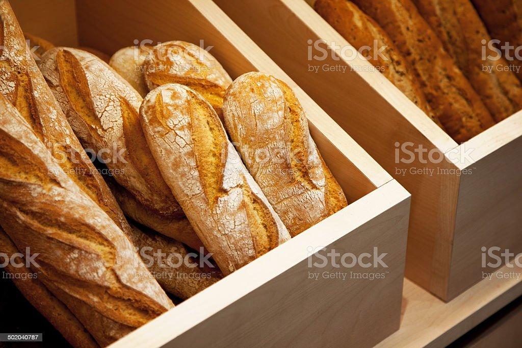fresh baked bread loafs stock photo