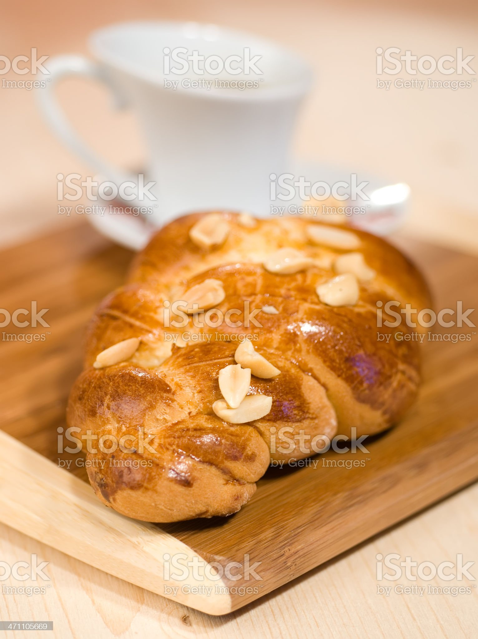 fresh baked bun royalty-free stock photo